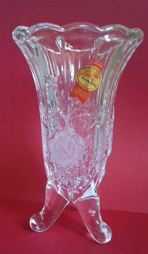 hutte bleikristall bleikristall hutte lead vase made in