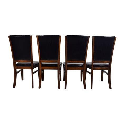 76 Off World Market World Market Leather And Wood Leather Wood Dining Chairs