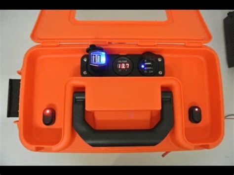 diy power box diy portable 12v battery box with power ports for kayak version 2