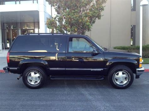 1999 2 Door Tahoe by Purchase Used 1999 Chevrolet Tahoe 2 Door 4wd