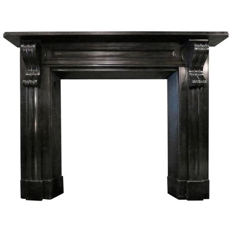 Celebrating Home Home Interiors by Antique Early 19th Century Irish Black Marble Fireplace