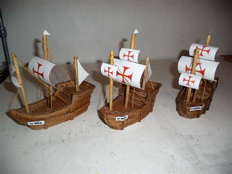 como hacer los tres barcos de cristobal colon maquetas dibujos y dise 209 os carabelas descubrimiento de