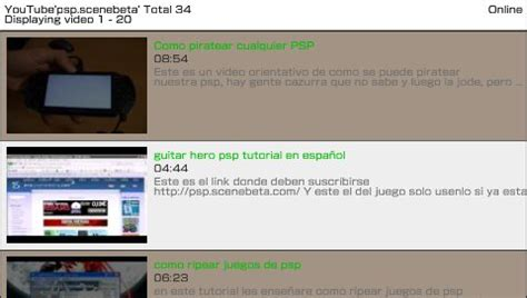bug vidmax psptube youtube para psp psp scenebeta com