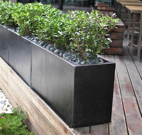 diy concrete rectangular planter the homy design