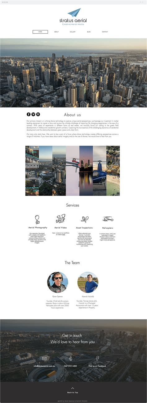 15 Gorgeous Websites Created From 3 Wix Templates Aerial Photography Website Templates