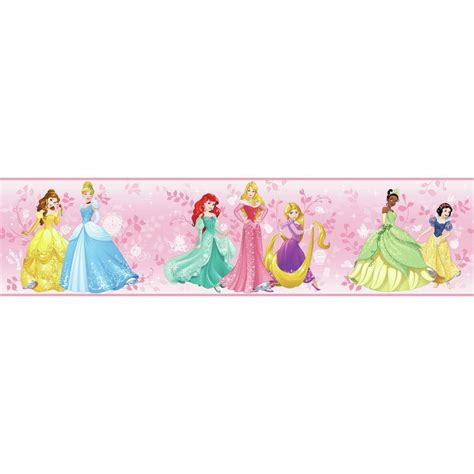 Nissen Disney Motif Pink Rsby 142 york wallcoverings inc disney iii disney princess border dy0334bd the home depot
