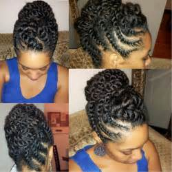 updo hairstyles with big twist natural hair flat twist updo protective hairstyle youtube