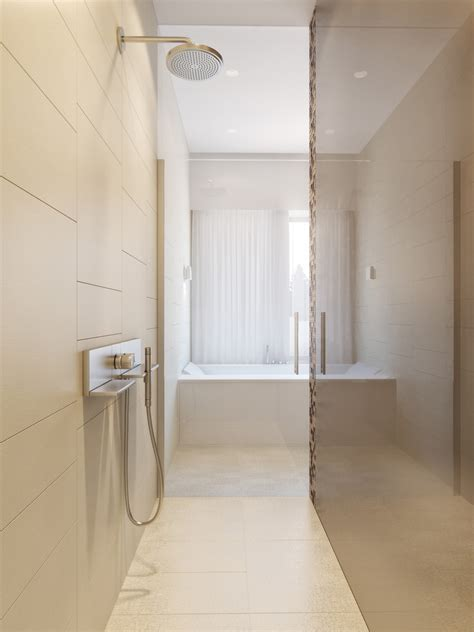 modern neutral master bathroom  interior design ideas