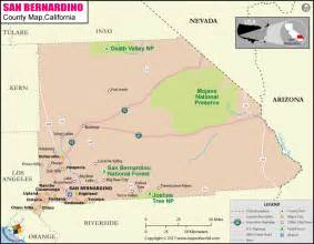 san bernardino county map map of san bernardino county