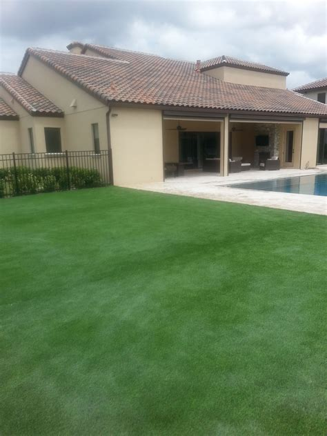 residential artificial turf outdoor landscaping