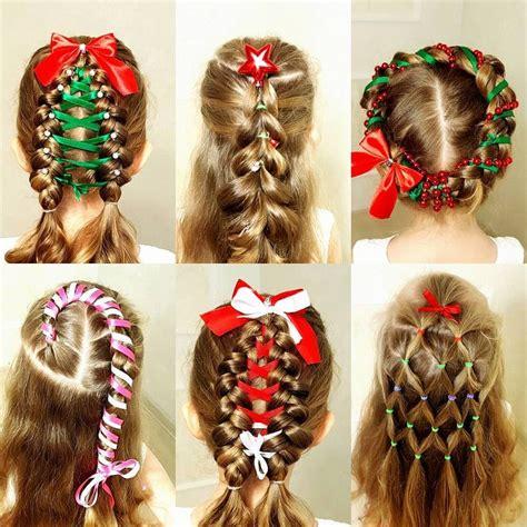 christmas themed hair تسريحات شعر للاطفال في الكريسماس الراقية