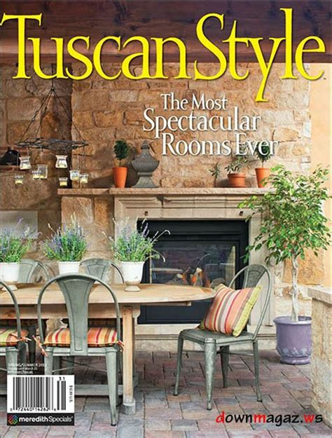 tuscan home decor magazine tuscan style issue 2013 187 download pdf magazines