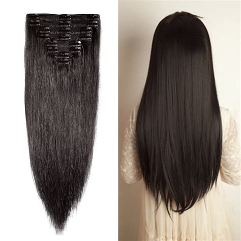 pics of short hair with weave clips double weft 100 remy human hair clip in extensions 10