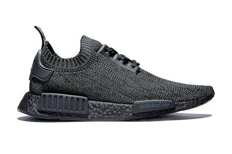 Sepatu Adidas Nmd R1 Pk Primeknit Pitch Black Premium Quality pitch black adidas nmd r1 primeknit sneaker bar detroit