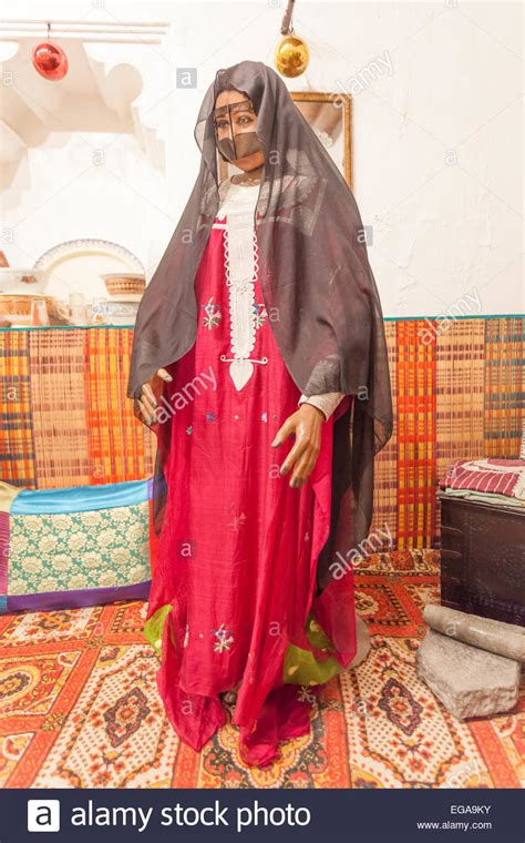 bedouin in traditional dress in the museum of ajman