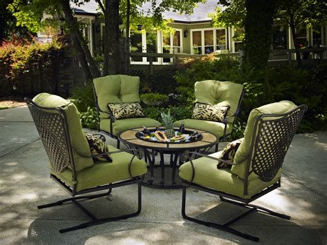 Patio Furnitures Wrought Iron Chat Tubs Fireplaces Patio Furniture Heat N Sweep Okemos Michigan