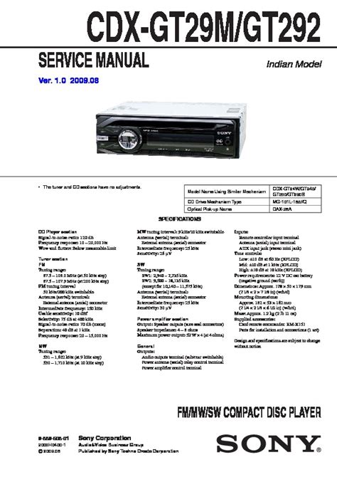 sony car stereo wiring diagram cdx gt540ui sony cdx