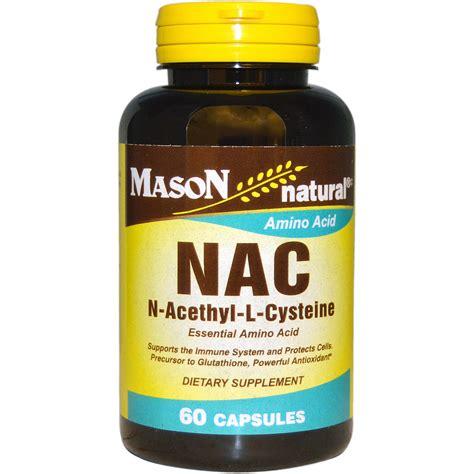 supplement l cysteine vitamins nac n acethyl l cysteine 60 capsules