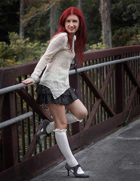white knee high socks from fiorelle boutique so adorable