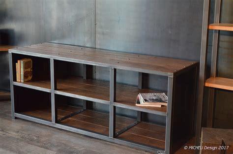 Home Designe by Meuble Hifi Haut De Gamme Bois M 233 Tal Style Industriel Sur