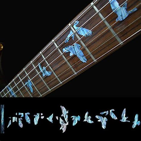 Inlay Stiker Headstock Gitar Torch Abalone Blue blue bird guitar reviews shopping blue bird