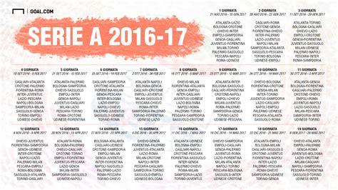 Serie N Calendario Serie A Da 2016 2017 Fikst 252 R 252 231 Ekildi Goal