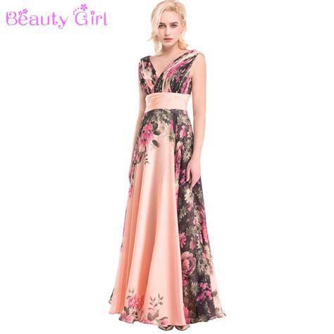pattern dress chiffon sexy elegant backless flower floral long prom dress