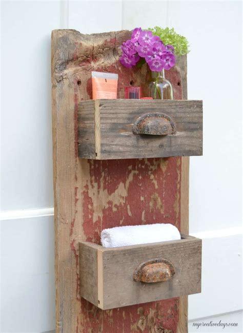 diy barn wood wall bin my creative days