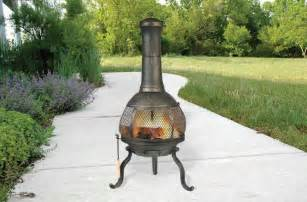 Cast Iron Chimineas Cast Iron Chiminea Backyard Outdoor Fire Pit Heater