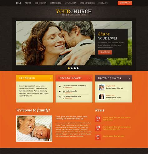 Black Orange Christian Website Template By Hugo Theme Free Christian Website Templates