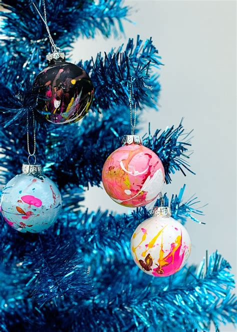 diy ornaments paint diy paint splatter ornaments
