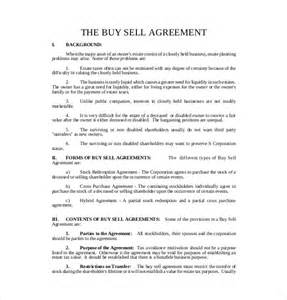 Purchase Of Business Agreement Template Free by 12 Buy Sell Agreement Templates Free Sle Exle