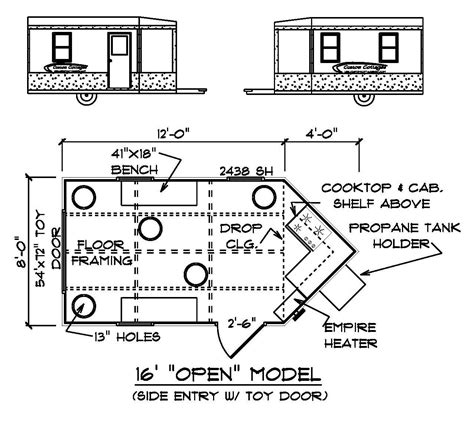 fish house floor plans yetti ice house floor plans