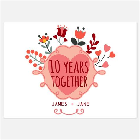 Wedding Anniversary 10th by 10th Wedding Anniversary Invitations For 10th Wedding