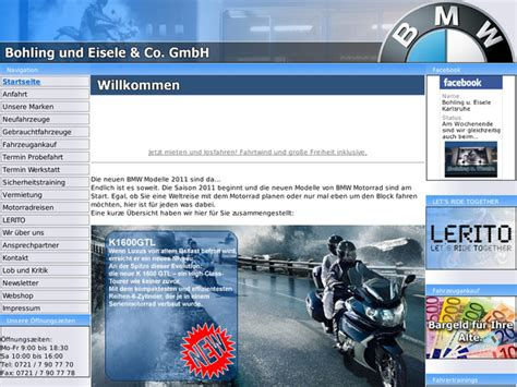 Bmw Motorrad Händler Tirol by Bohling U Eisele Co Gmbh In Karlsruhe Motorradh 228 Ndler