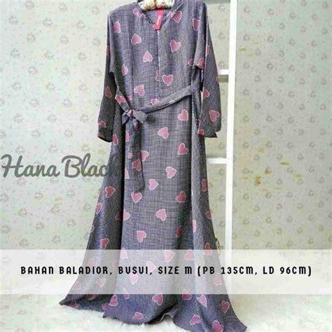 Gamis Polos Renita Maxy Ungu Baju Hijabers Muslim Murah Mi gamis ukuran s terbaru 2018 hana hitam model baju gamis terbaru