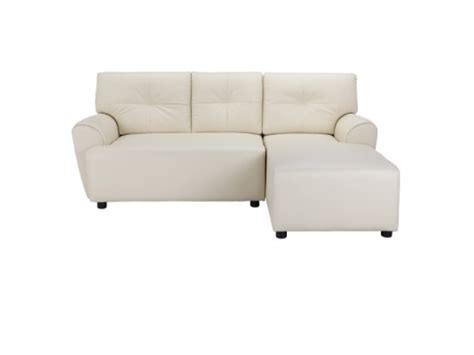 cream leather chaise cream synthetic leather sofa with corner chaise