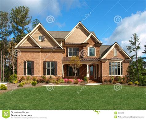 Home Frient Desince Of Models Luxury Model Home Exterior Front View Stock Image Image