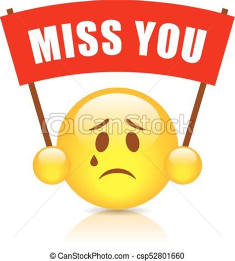 miss you clip miss you vector sign illustration on white background
