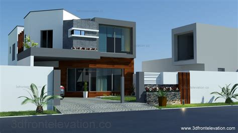 3d front elevation 8 marla house plan layout elevation
