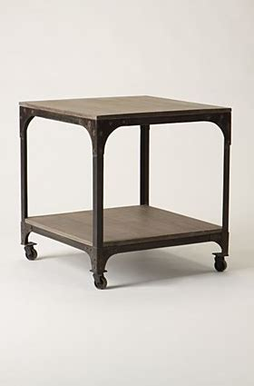 industrial rolling side table look 4 less