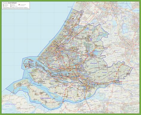 netherlands driving map south road map