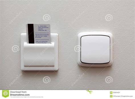 electric switch and key card stock image image 35904421