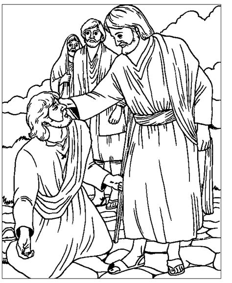 bible jesus heals the blind man coloring pages car