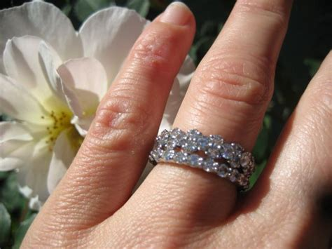 stacked eternity wedding bands eternity rings half or all the way around weddingbee