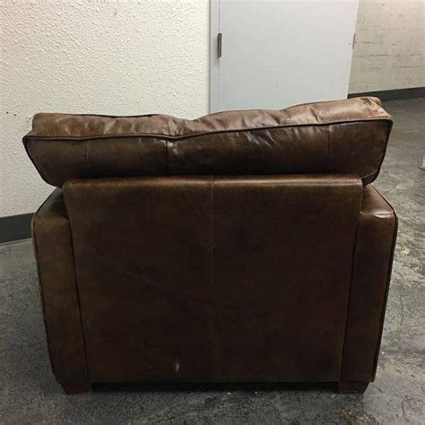 four hands leather sofa four hands hemingway chair in cigar leather at 1stdibs