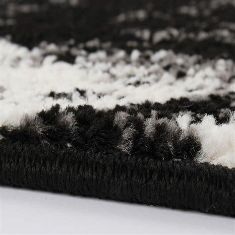 teppiche grau designer teppich trendiger kurzflor teppich in schwarz