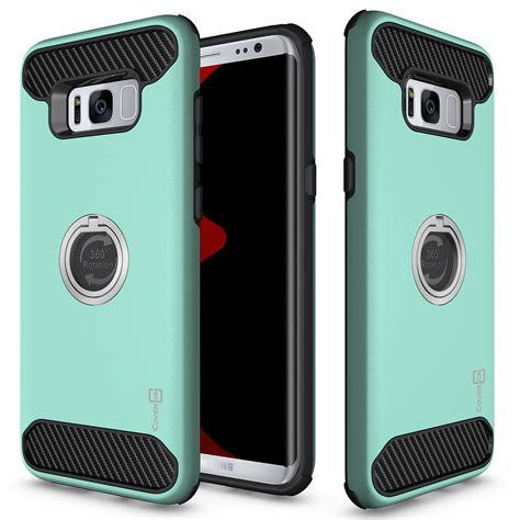 Protective Covers by For Samsung Galaxy S8 Hybrid Armor Protective Ring Phone