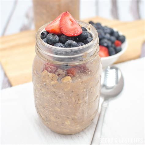 protein overnight oats berry chocolate protein overnight oats becky s best bites