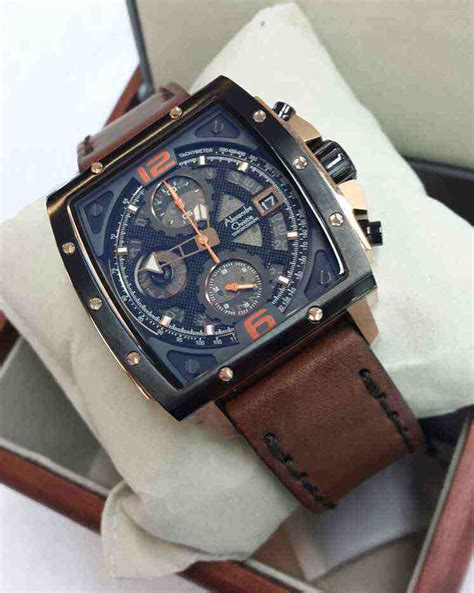Ac 6376 Black Brown jual alexandre christie ac 6376mc black brown leather